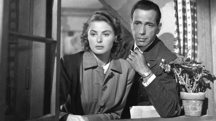 Casablanca، Humphrey Bogart، Ingrid Bergman، Michael Curtiz، As Time Goes By، همفري بوجارت، إنجريد برجمان، كازابلانكا
